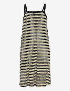 5x5 Stripe Ducina - jurken & rokjes - black/pale banana/white