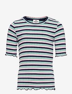 5x5 Stripe Tuviana - korte mouwen - aqua/pink/navy