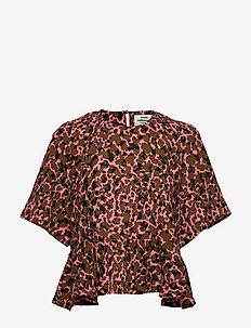Bumpy Flower Barla - blouses met korte mouwen - multi strawberry pink