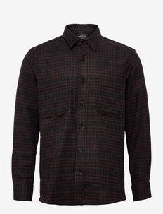 Lema Blend Sapp - casual overhemden - grey check