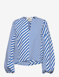 Mix Stripe Bianna - long sleeved blouses - multi princess blue