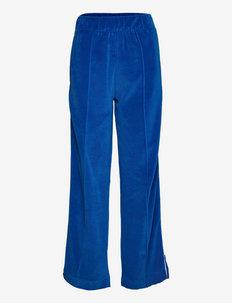 Jersey Velvet Prisca - broeken med straight ben - multi princess blue