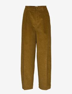 Uneven Cord Paria - bukser med brede ben - breen