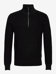 Active Wool Kane - half zip - ebony