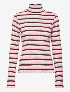Super Stripe Trevor Top - topy z długimi rękawami - multi candy pink