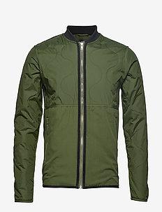 Thin Nylon Quilt Jaman - vindjakker - rifle green