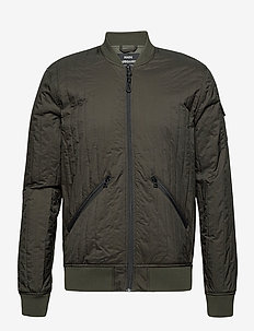 Quilt Nylon Jeb - bomber jackets - forest night