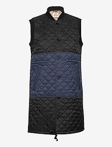 Shiny Recy Quilt Velpa - quiltade jackor - dark navy/black