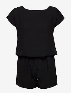 Crepe georgette Cavi short - jumpsuits - black