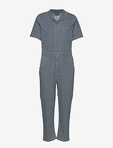 Stretchy Hickory Coachella - jumpsuits - blue/white