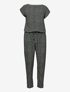 Recina Crepe Jungle Cavi - jumpsuits - army/black