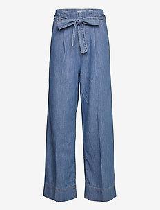 Light Indigo Piona - broeken met wijde pijpen - mid blue