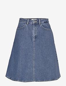 Heavy Indigo Steffi - denim skirts - worn stone