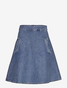 Heavy Indigo Stelly - denim skirts - worn stone