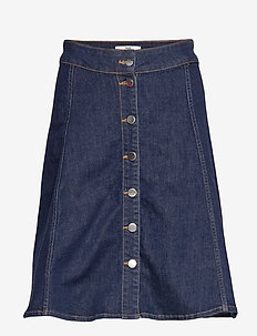 Comfi Denim Stelissa Box - denim skirts - blue rinse