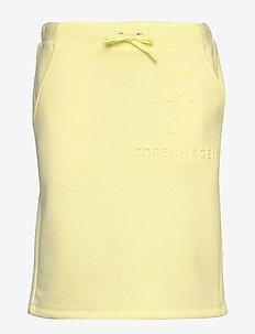 Eco Bold Sweat Sweatina Embo - spódnice mini - soft yellow