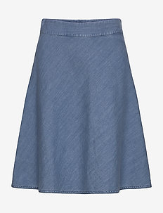 Soft Indigo Stelly C - denim skirts - pale indigo