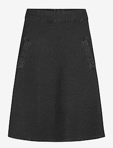 Light Black Denim Stelly - midi kjolar - washed black