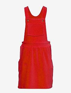 Stretch Corduroy Drilla - jurken - red
