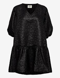 Dreamy Jaquard Destilla - korta klänningar - black