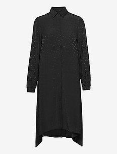 Drapy Satin Dancella LS - skjortekjoler - black