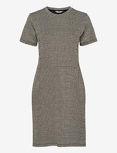Glitter Jacquard Diella - midi kjoler - beige/black