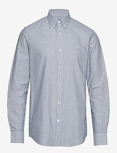 Striped Oxford Sawsett - businesskjorter - blue stripe