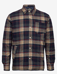 Padded Check Simon - NAVY/BEIGE CHECK