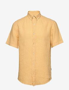 Dyed Linen Sawsett S/S - basic skjorter - rattan