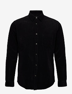 Baby Cord Silton - oxford shirts - black