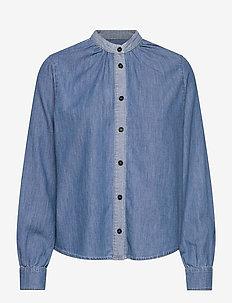 Light Indigo Sylle - overhemden met lange mouwen - mid blue