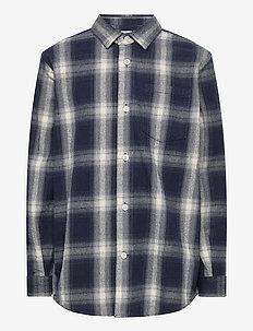 Gridlock Check Svantino - skjorter - black/white check