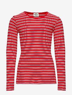 2X2 Duo Stripe Talino - BRIGHT RED/WHITE