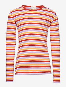 2X2 Softy Stripe Talino - long-sleeved t-shirts - multi red