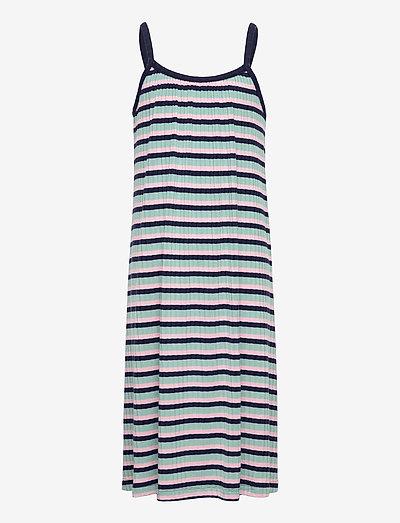 5x5 Stripe Ducina - kleider - aqua/pink/navy