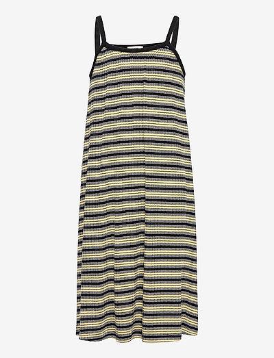 5x5 Stripe Ducina - kleider - black/pale banana/white