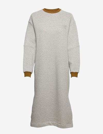 Organic Sweat Donna - summer dresses - medium grey melange