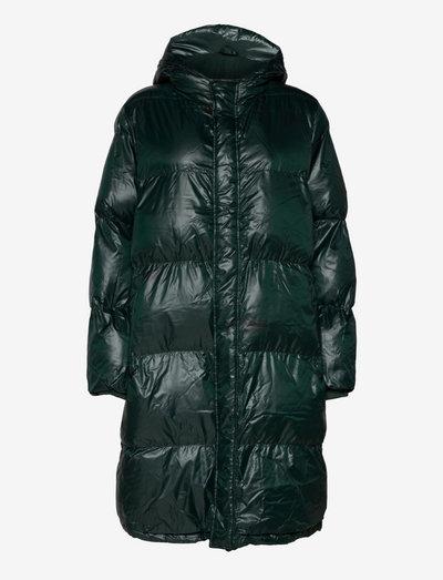 Shiny Poly Jolene - winter coats - scarab