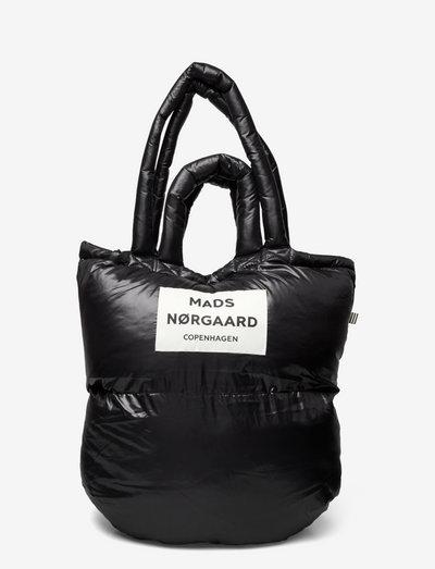 Shiny Poly Pillow - tote bags - black
