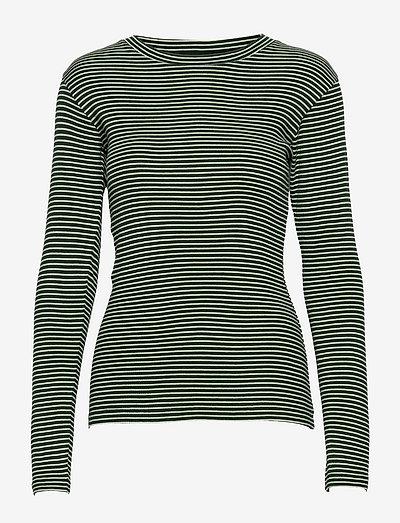 2x2 Cotton Stripe Tuba - langærmede toppe - multi scarab