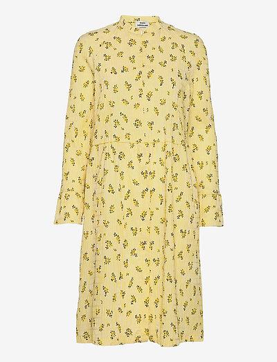 Crinkle Print Pop Dupina - midi dresses - sunny flower