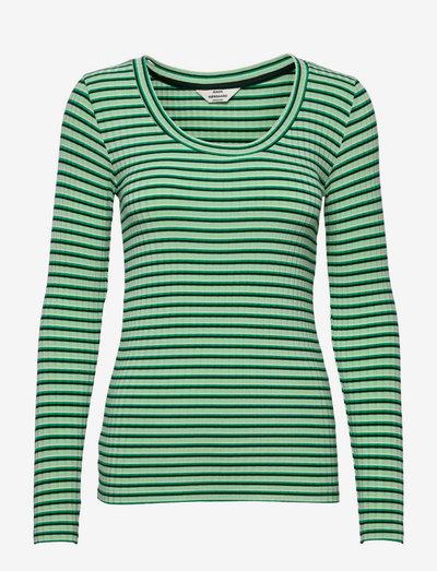 5x5 Stripe Tinilla - langærmede toppe - multi pastel green