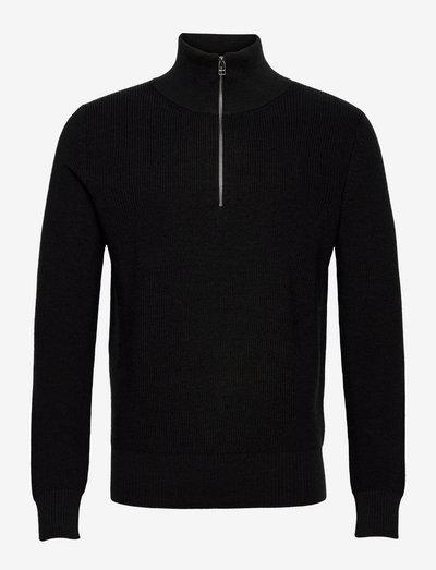 Active Wool Kane - half zip-tröjor - ebony