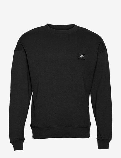 Cotton Rib Son Badge - sweats - black