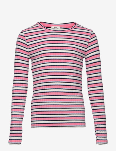 5x5 Stripe Talika - langärmelig - multi strawberry pink
