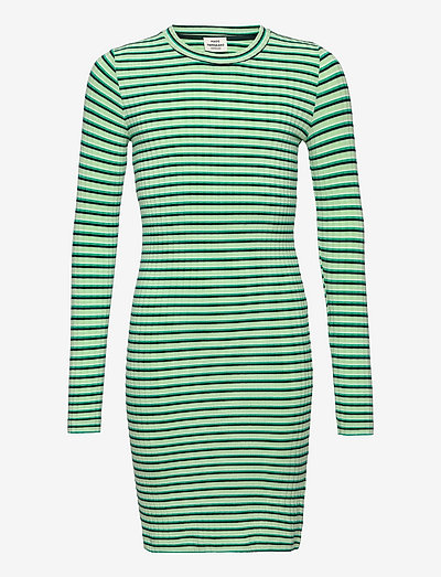 5x5 Stripe Dubina - kleider - multi pastel green