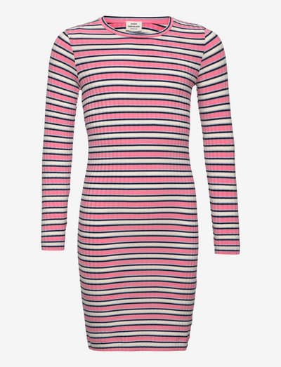 5x5 Stripe Dubina - kleider - multi strawberry pink