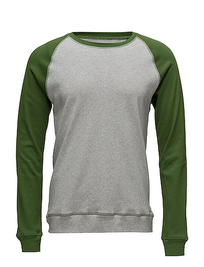 Cotton Rib Stelt Contrast - GARDEN GREEN/GREY MELANGE