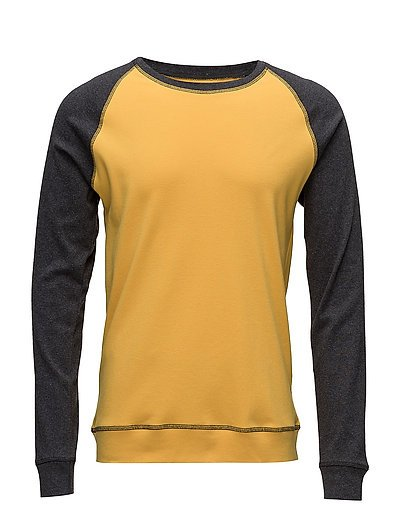Cotton Rib Stelt Contrast - CHARCOAL MELANGE/GOLDEN ROD