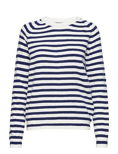 Cosy stripe Kaxa stripe - ECRU/NAVY